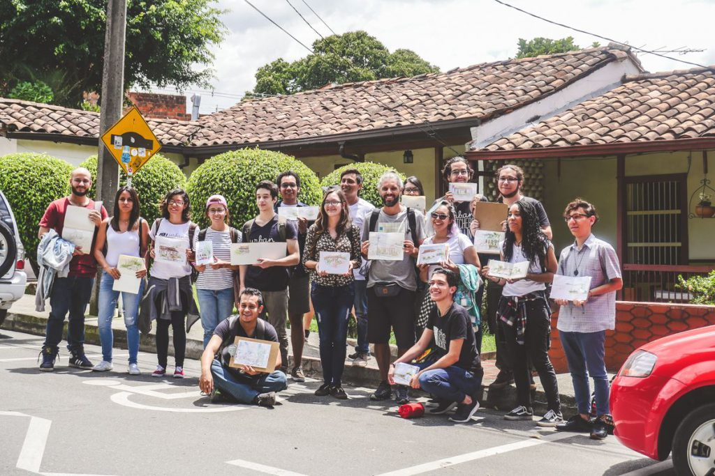 urban sketcher Medellin
