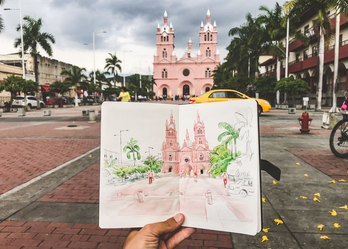 sketch buga colombia